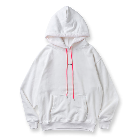 Hoodie GHOST concept notes White×Neon Pink