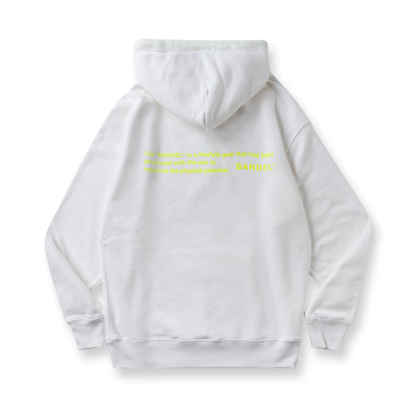 Hoodie GHOST concept notes White×Neon yellow