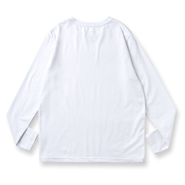 Long Sleeve T Geometry Camo Logo White