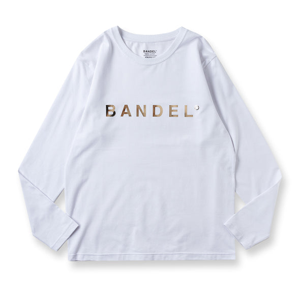 Long Sleeve T Gold Logo White