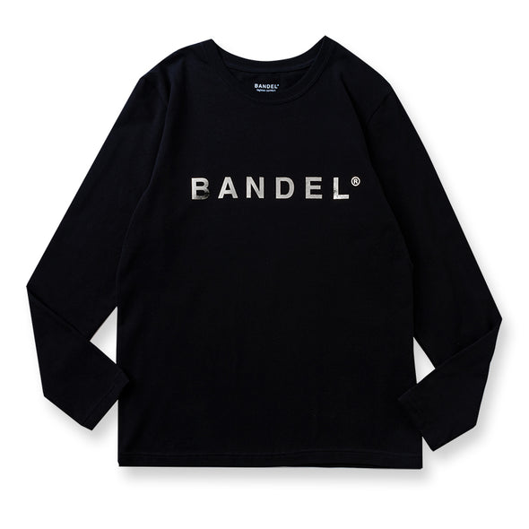 Long Sleeve T Silver Logo Black