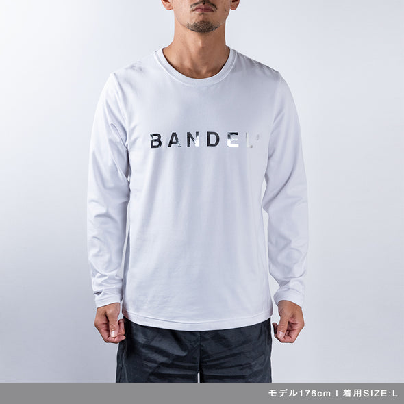 Long Sleeve T Silver Logo White