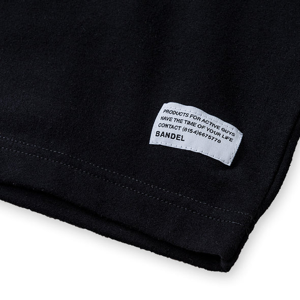 Long Sleeve T  Woven Label Black