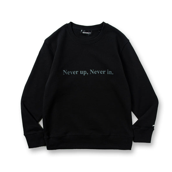 Never up,Never in GOLF CREW NECK Black×Gray