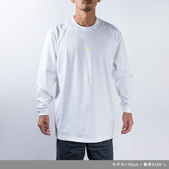 Long Sleeve T Color benefit 【CHILL】white