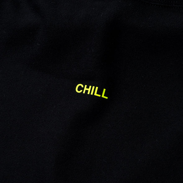 Hoodie Color benefit 【CHILL】Black