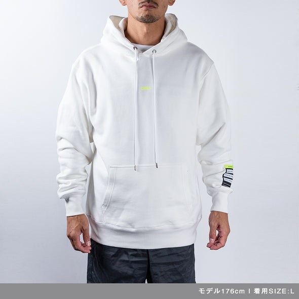 Hoodie Color benefit 【CHILL】White