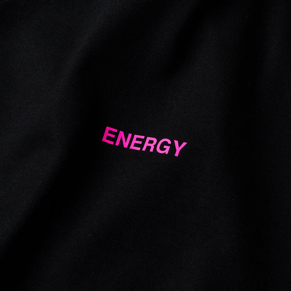 Long Sleeve T Color benefit 【ENERGY】black