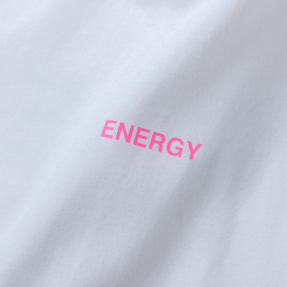 Long Sleeve T Color benefit 【ENERGY】white