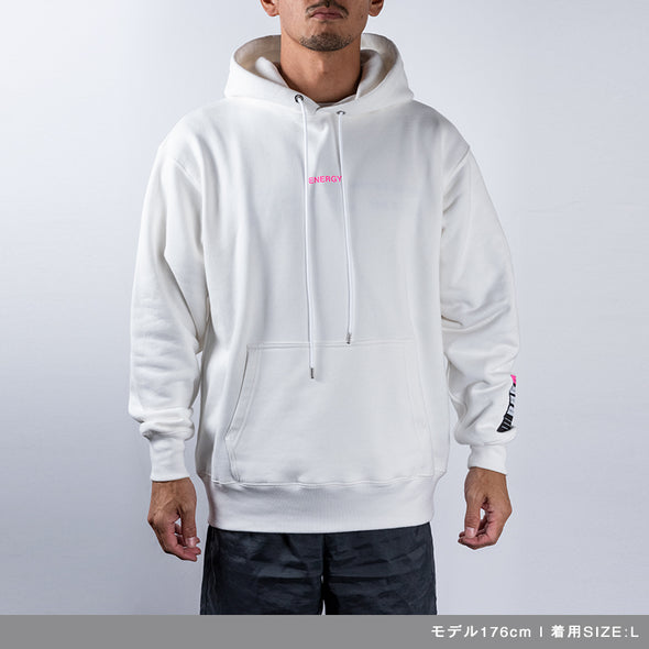 Hoodie Color benefit 【ENERGY】White