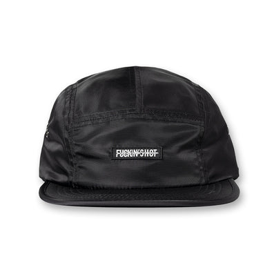 FUCKIN'SHOT Nylon 5panel Golf cap Black