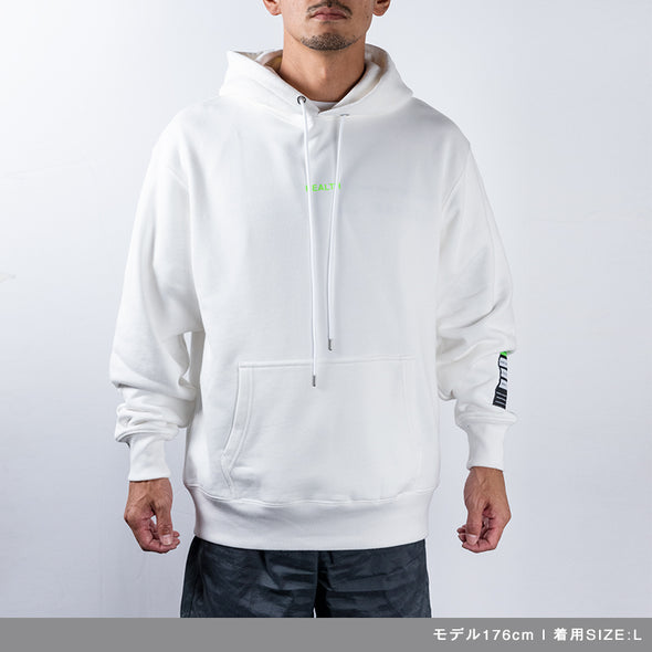 Hoodie Color benefit 【HEALTH】White