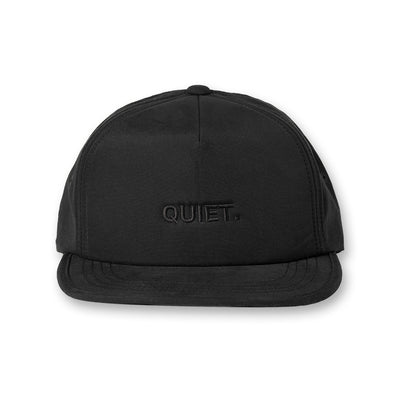 QUIET Water Repellent Golf cap Black×Black