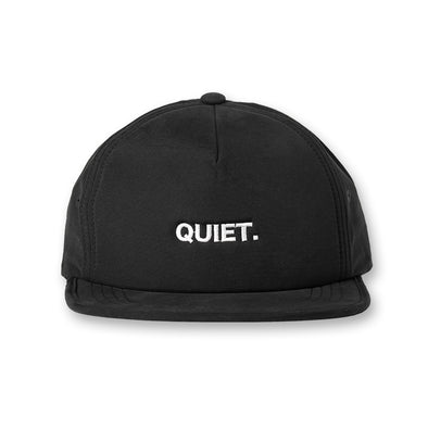 QUIET Water Repellent Golf cap Black×White