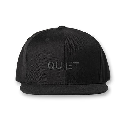 FLAT VISOR GOLF CAP QUIET Black×Black