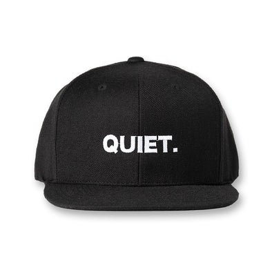 FLAT VISOR GOLF CAP QUIET Black×White