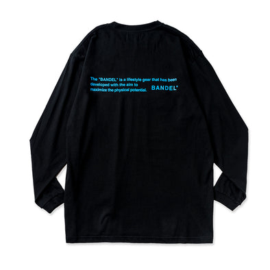 Long Sleeve T GHOST concept notes  Black×Neon Blue