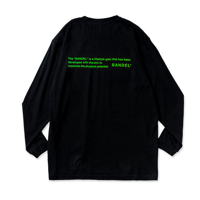 Long Sleeve T GHOST concept notes  Black×Neon Green