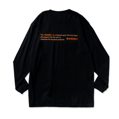 Long Sleeve T GHOST concept notes  Black×Neon Orange