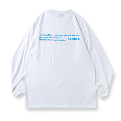 Long Sleeve T GHOST concept notes White×Neon Blue
