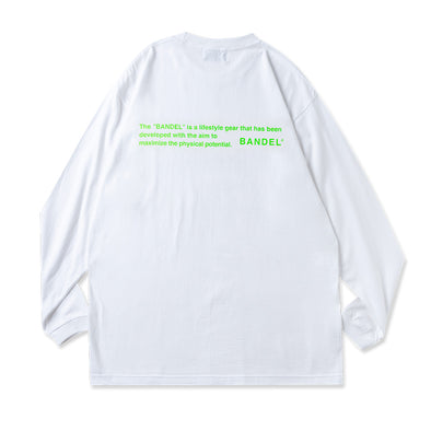 Long Sleeve T GHOST concept notes  White×Neon Green