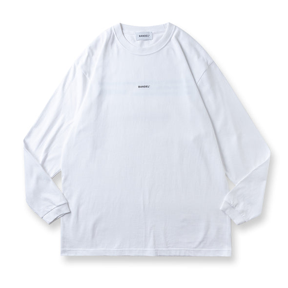 Long Sleeve T GHOST concept notes  White×Neon Orange