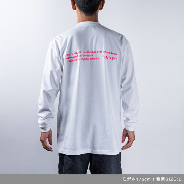 Long Sleeve T GHOST concept notes  White×Neon Pink