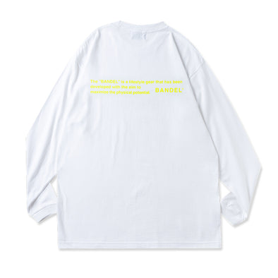 Long Sleeve T GHOST concept notes  White×Neon Yellow