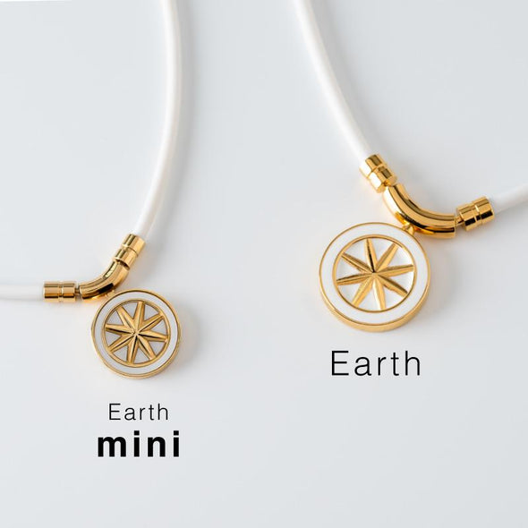 Earth mini 【刻印可能モデル】White×Gold<br> 磁気ネックレス