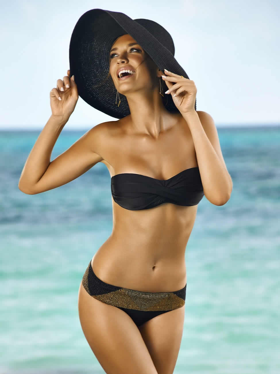 PilyQ-Swimwear-2015-Black-Gold