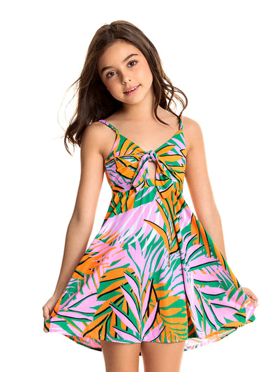 Maaji Kids: Palm Trees Drizzle Dress (1704KKC003)