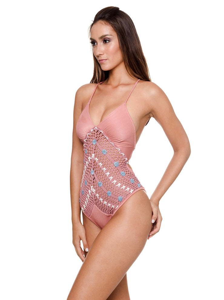 Emb Crochet One-Piece