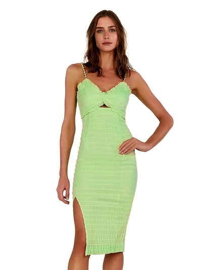 Vix: Lime Lora Midi Dress (298-407-012)