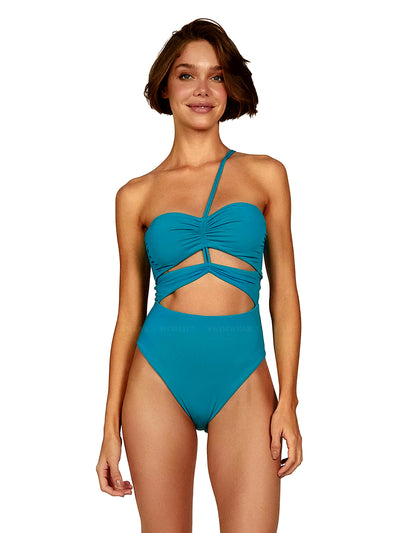 Vix: Turquoise Georgia One-Piece (217-407-051)
