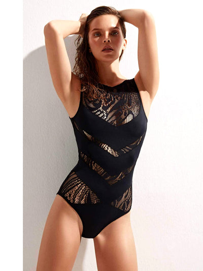 Shaw with Lace One-Piece