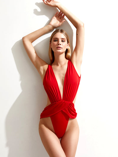 Oye Swimwear: Doris (DORIS-RED)
