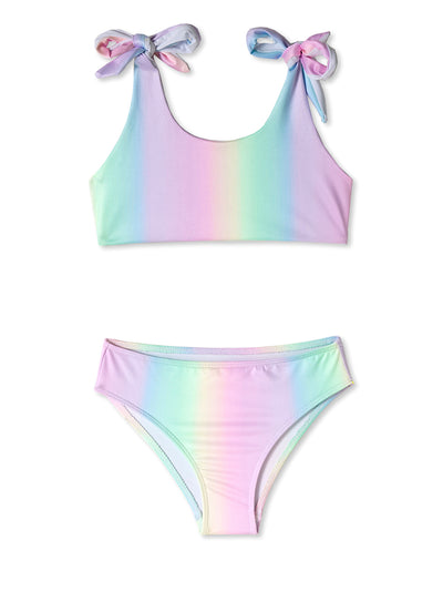 Rainbow Shoulder Tie Bikini