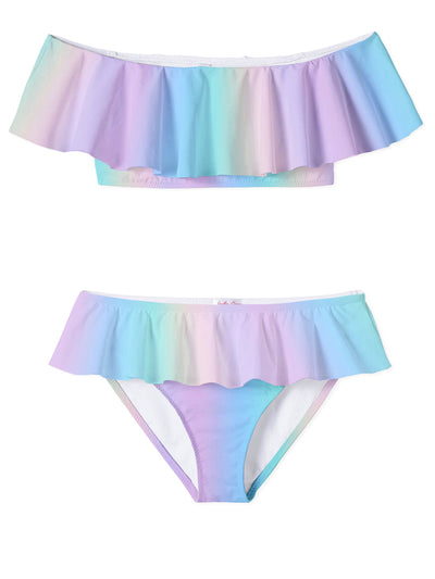 Rainbow Pastel Full Shoulder Bikini