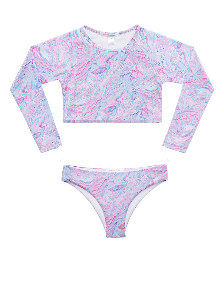 Pastel Swirl Crop Top RG Set