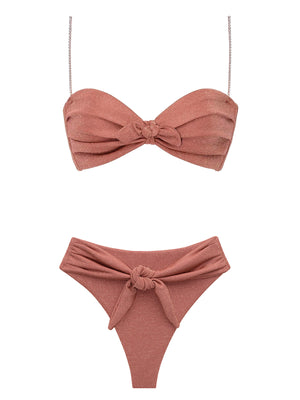 Montce Swim: Cabana with Rhinestone Strap-Paula Tie-Up (20SU122-20SU107)