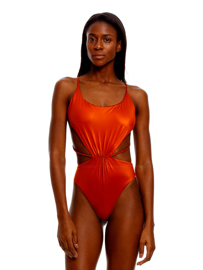 Agua Bendita: Nadine One-Piece (7328-RUST)