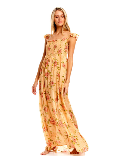 Agua Bendita: Leandra Dress (7024-PEAC)