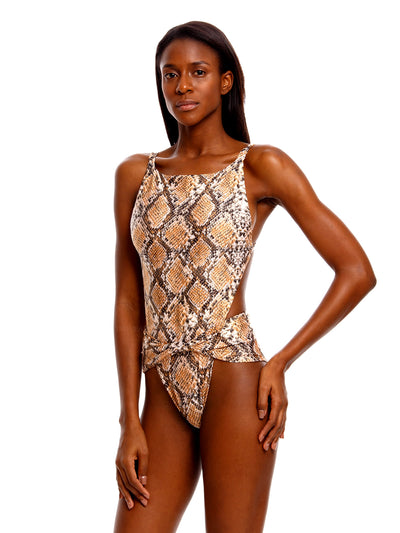 Agua Bendita: Angela One-Piece (7103-BRWN)