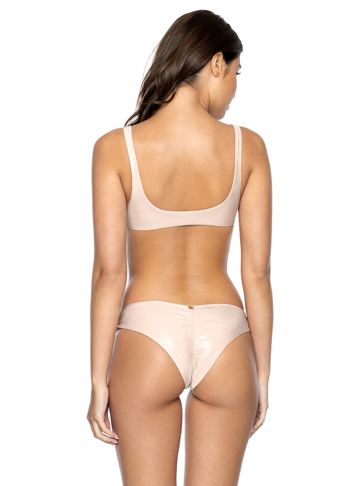 PilyQ: Ring Side Halter-Basic Ruched  Bikini  SHE-364H-SHE-211T