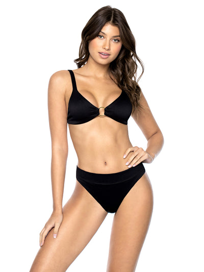 PQ Swim: Ring Tri-High Waist  Bikini  BLP-368R-BLP-252F