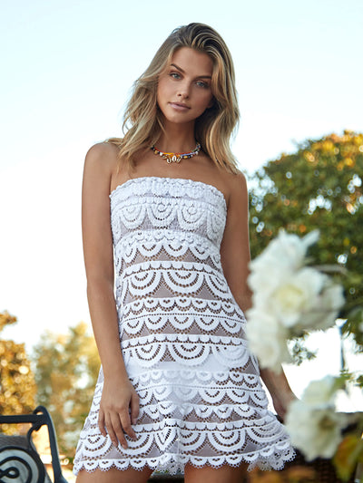 PQ Swim: Smocked Tube Dress (WAT-1023D)