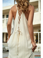 PQ Swim: Riley Lace Up Dress (AZU-1000D)