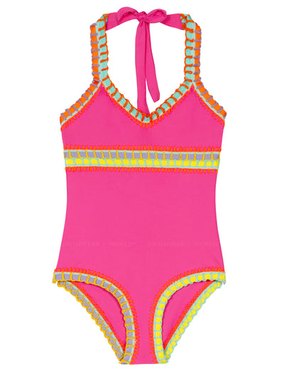 Rainbow Embroidered One-Piece