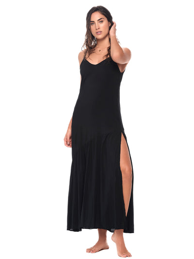 Black Camelus Maxi Dress