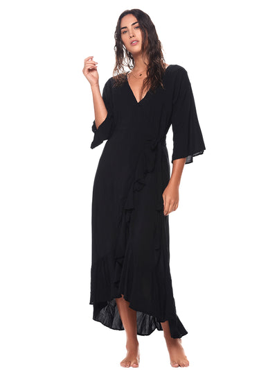 Black Marigold Maxi Dress